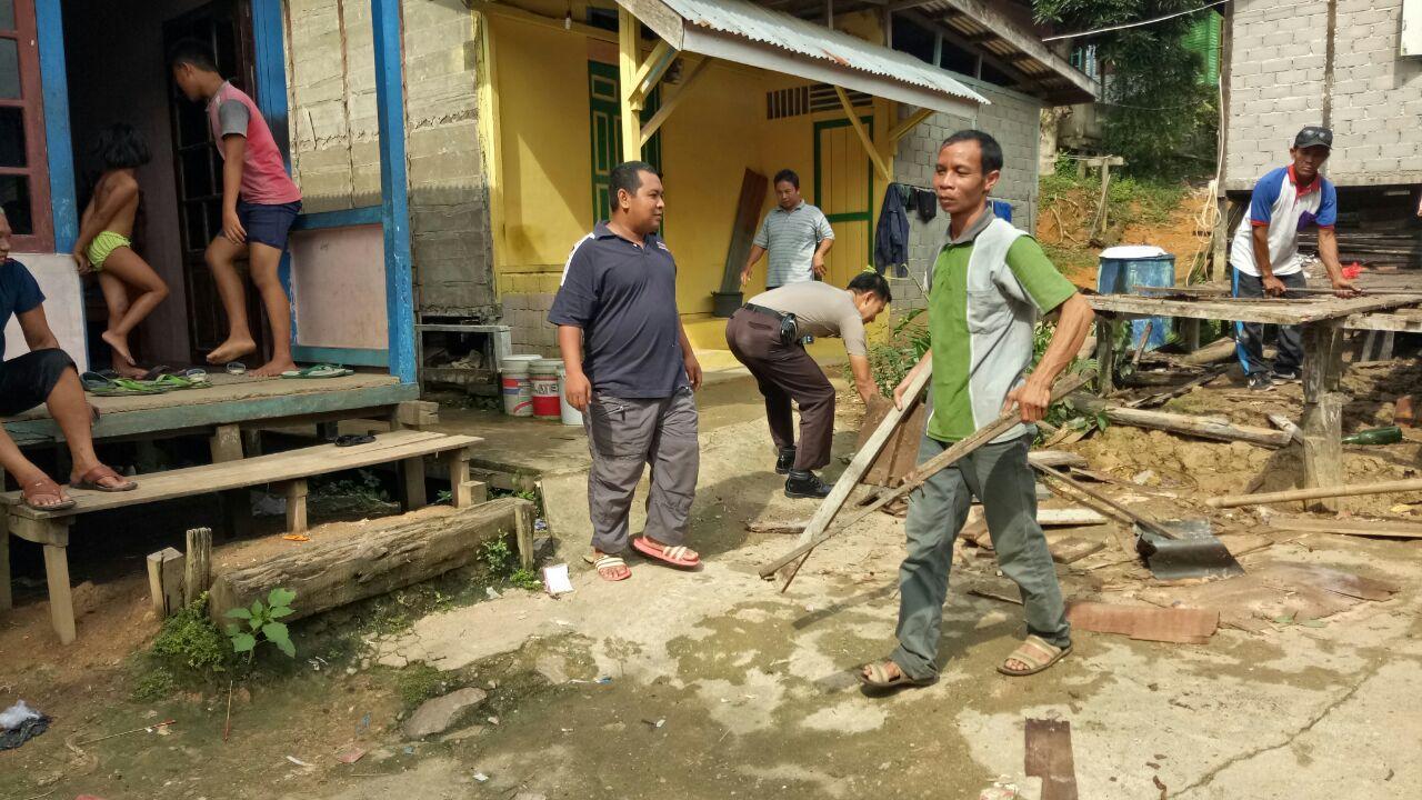Kadus,  Bhabinkamtibmas, Club Motor Vixson, Gotong-Royong Bangun Rumah Sulen