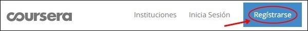 Registrarse en Coursera