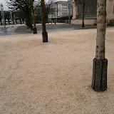 Отсыпанные дорожки и защита деревьев