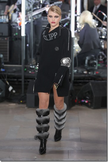 NEW YORK, NY - FEBRUARY 13:  Sofia Richie walks the runway wearing look #42 for the Philipp Plein Fall/Winter 2017/2018 Women's And Men's Fashion Show at The New York Public Library on February 13, 2017 in New York City.  (Photo by Thomas Concordia/Getty Images for Philipp Plein)