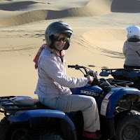 Quad biking on the dunes