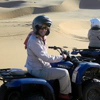 Quad biking on the dunes