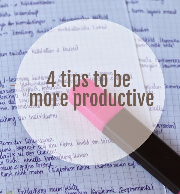 4 ways to be more productive