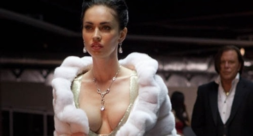 Megan Fox Deep Cleavage Show   Big Boob Size   Breast Exposed Pictures
