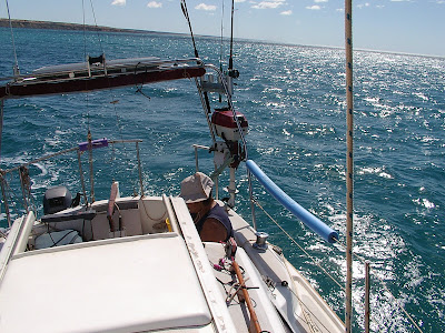 Sailing Sandpiper off Dirk Hartog Island