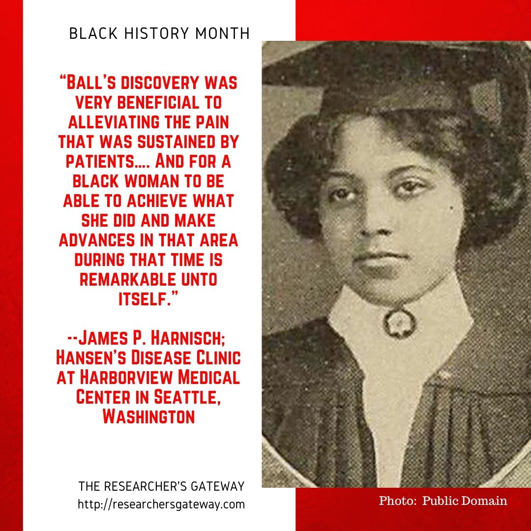 Black History Month - Alice Augusta Ball Quote