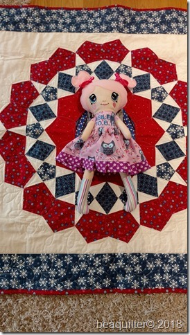 machine embroidered doll ITH