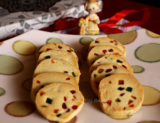 Eggless Candied Fruit Cookies