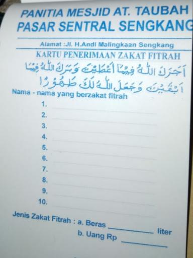 Ini Besaran Zakat Fitrah dan Fidyah di Masjid At-Taubah Sengkang