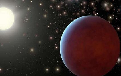ilustração de um exoplaneta gigante
