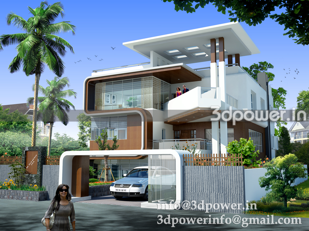 3d animation 3d rendering 3d walkthrough 3d interior - Exterior designs of houses in india ...