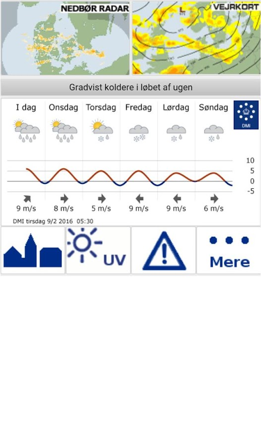 DMI Weather- screenshot