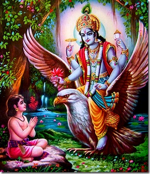 [Lord Vishnu and Dhruva]
