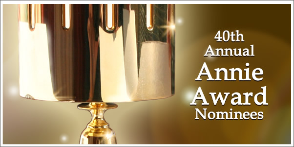 2012 Annie Award Nominations for Best Music