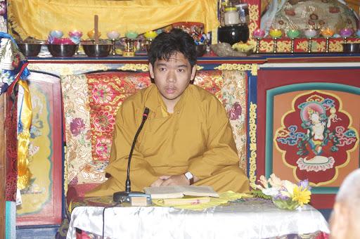 Serkong Tsenshab Rinpoche, Root Institute, Bodhgaya, January 2012. Photo by Bill Kane.