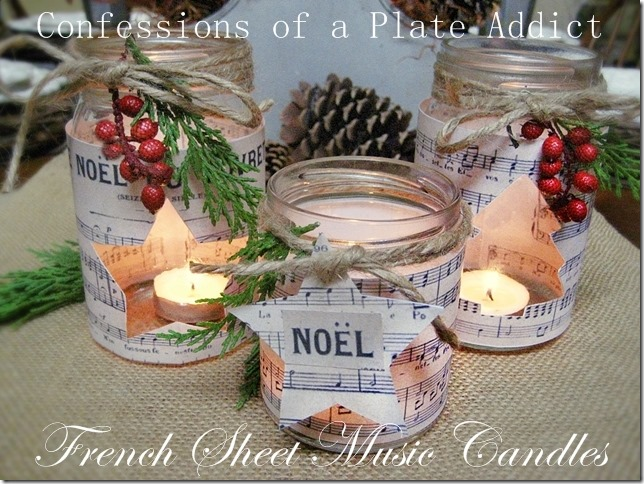 CONFESSIONS OF A PLATE ADDICT French Sheet Music Christmas Candles
