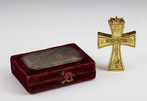Cross- Religuarium and casket , Russia, 1680 (cross), 19 c (casket)