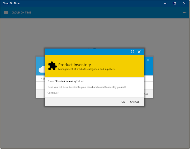 Cloud is found in native Universal Windows Platform app Cloud On Time.