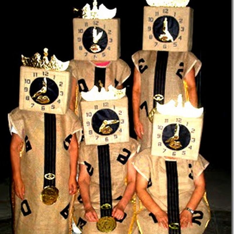 Disfraz casero de carillon con bolsa de basura