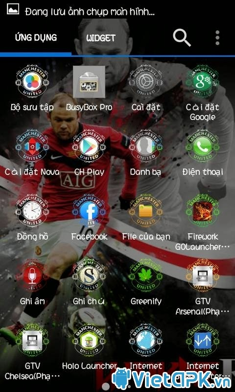 Tải Launcher mod Manchester United đẹp cho Android