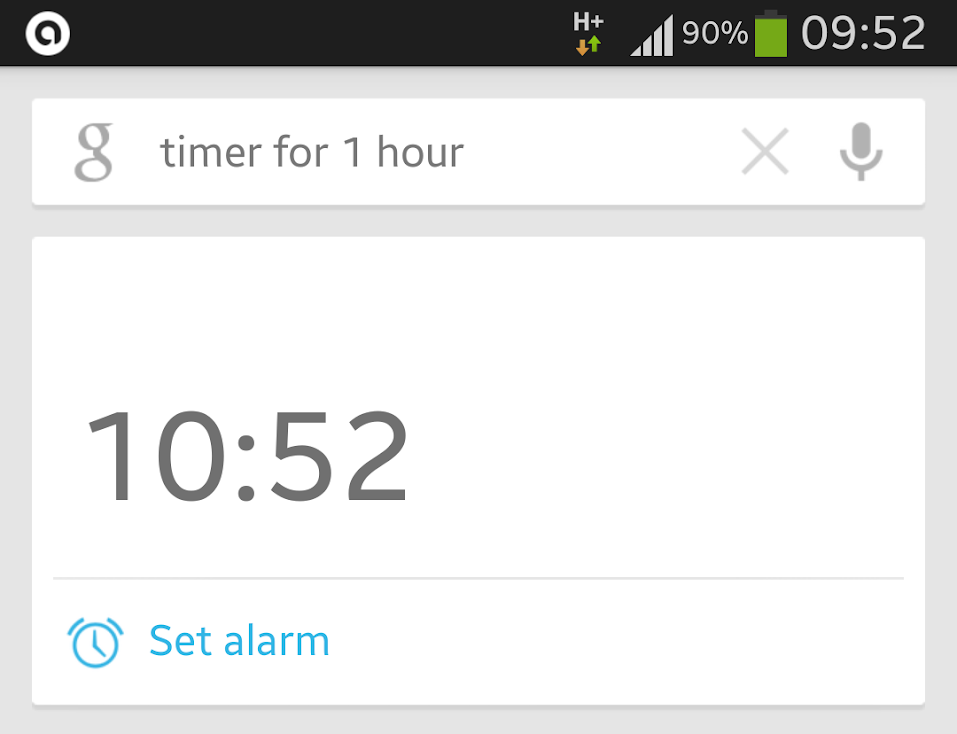 Google Now Timer