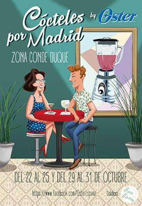 Ruta de cócteles por Conde Duque, del 22 al 25 y del 29 al 31 de octubre 2015