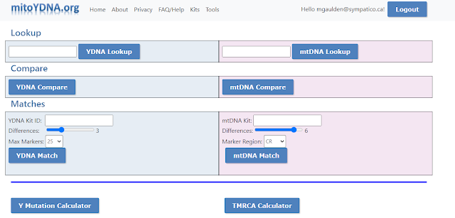 Tools page at mitoYDNA,org