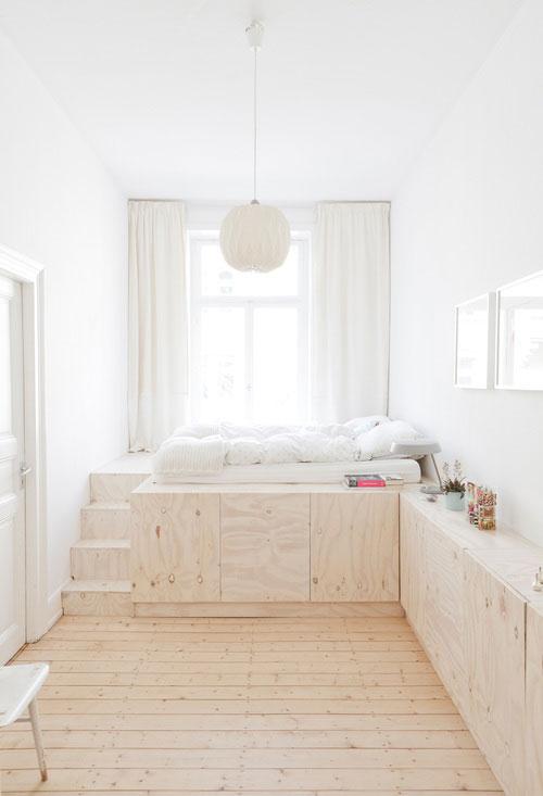 Ganar espacio en el dormitorio.