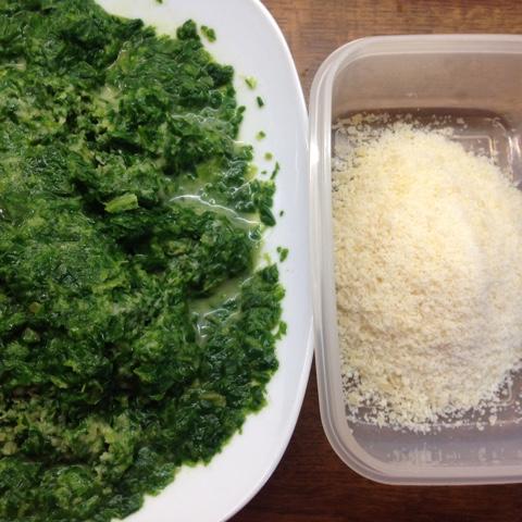 Spinat und Parmesan