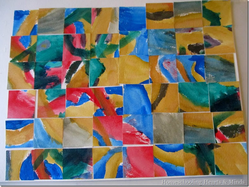 watercolor painting collage 2