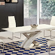 High Gloss Dining Table and Chairs - Dining Room Furniture