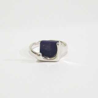 Tiffany & Co. Sterling Silver Lapis Ring