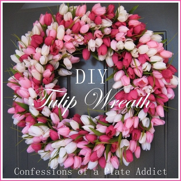 CONFESSIONS OF A PLATE ADDICT DIY Spring Tulip Wreath2