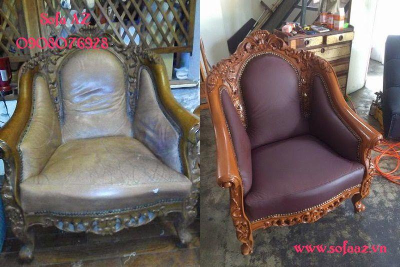 Bọc ghế sofa cổ điển Châu Âu sửa ghế sofa tại quận 2