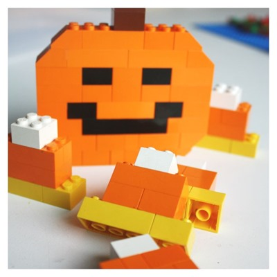 Halloween-Activity-building-LEGO-Jack-O-Lantern-Pumpkin-and-Candy-Corn