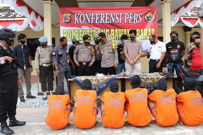 Polres Tubaba menggelar Ungkap Hasil operasi Sikat Krakatau 2020.