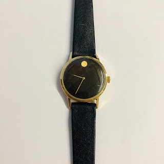 14 Kt. Gold & Leather Watch