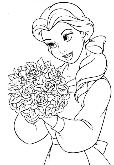 Belle Coloring Pages Belle Coloring Page Disney Princess Belle Coloring  Pages To Kids To Print