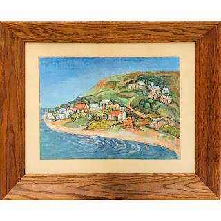 Martin Rosenthal Signed Bay Scene Oil