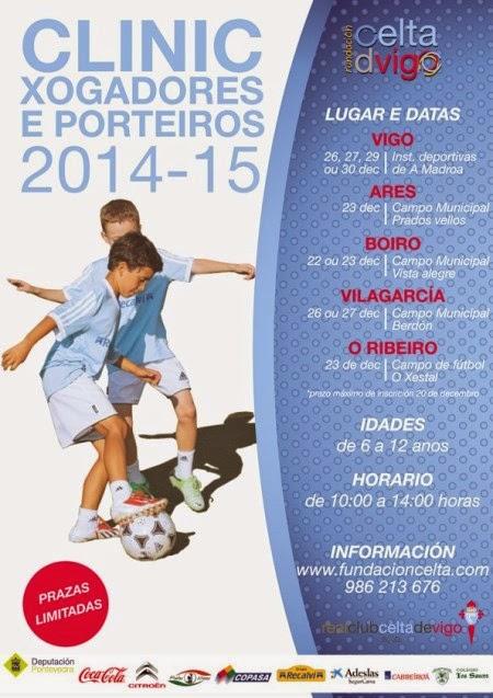 Fundación Celta de Vigo. Clinic xogadores e porteiros 2014-15. Prados Vellos (Ares)