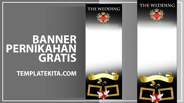 Banner Wedding CDR : Download Banner Pernikahan CDR Gratis