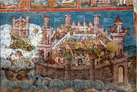 Asedio de Constantinopla (Mănăstirea Moldoviţa)
