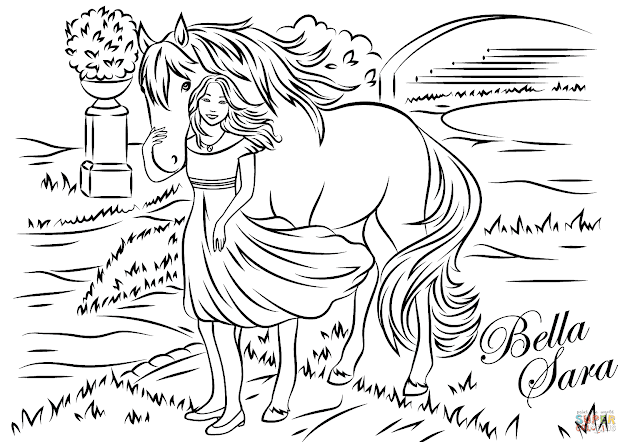 Click The Bella Sara From Sunflower Coloring Pages