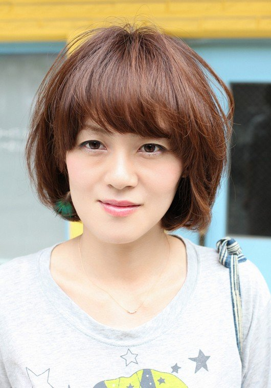 Asian Coloured Short Bob