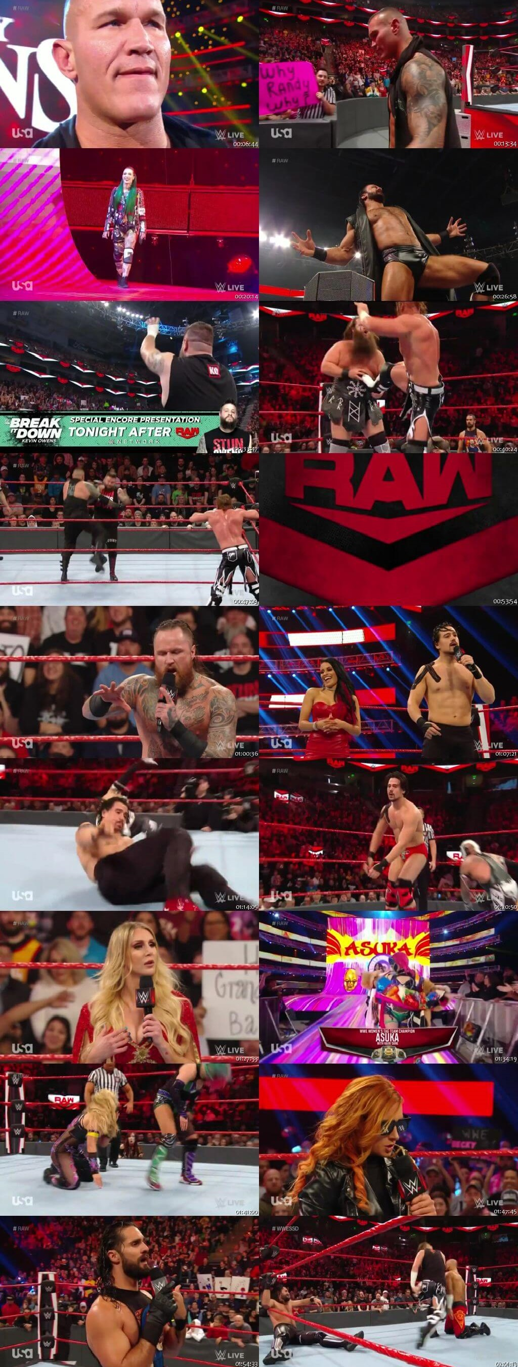 Screen Shot Of Wrestling TV Show WWE Monday Night Raw 3rd February Watch Online Free Download