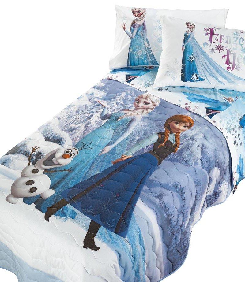 Parure lenzuola principesse frozen elsa 1 piazza stampa digitale disney caleffi ebay - Letto di frozen ...