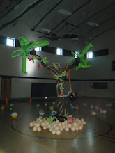 Photo: Huge double Palm tree for Forrest Hills Beach Ball Bash!