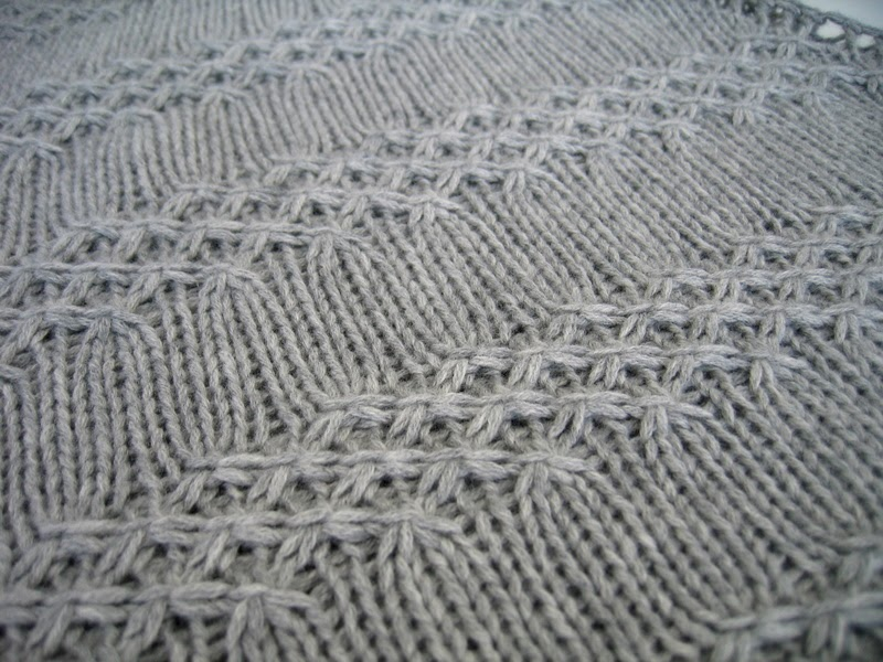 Knitting Patterns For Winter : Silver Lining Knits: Winter Sparkles - textured shawl