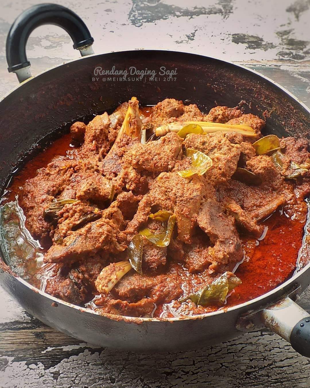 Sajian Rendang Daging Sapi, Resep Masakan Rumahan