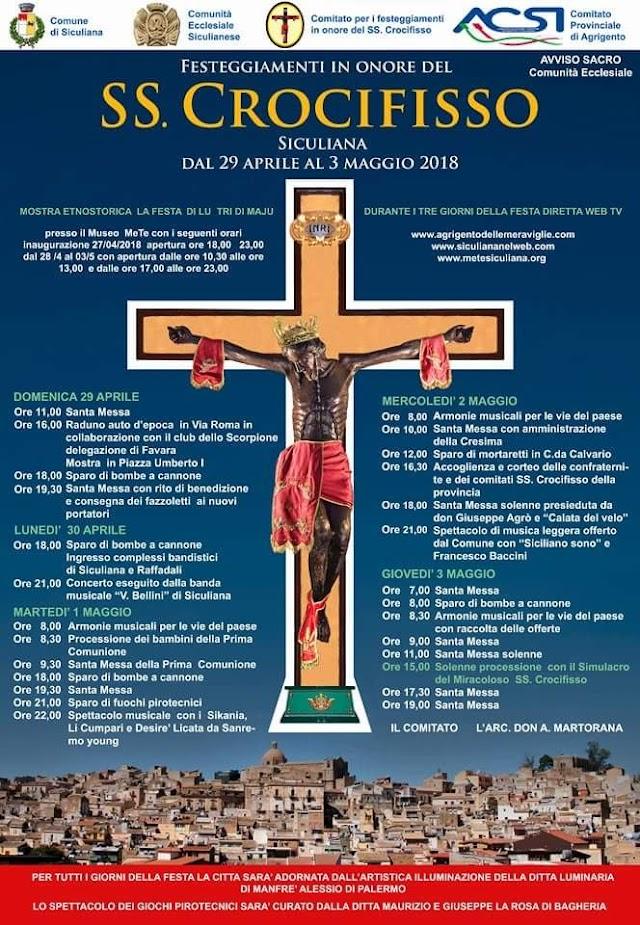 Festa del 3 Maggio 2018, Il Programma degli eventi